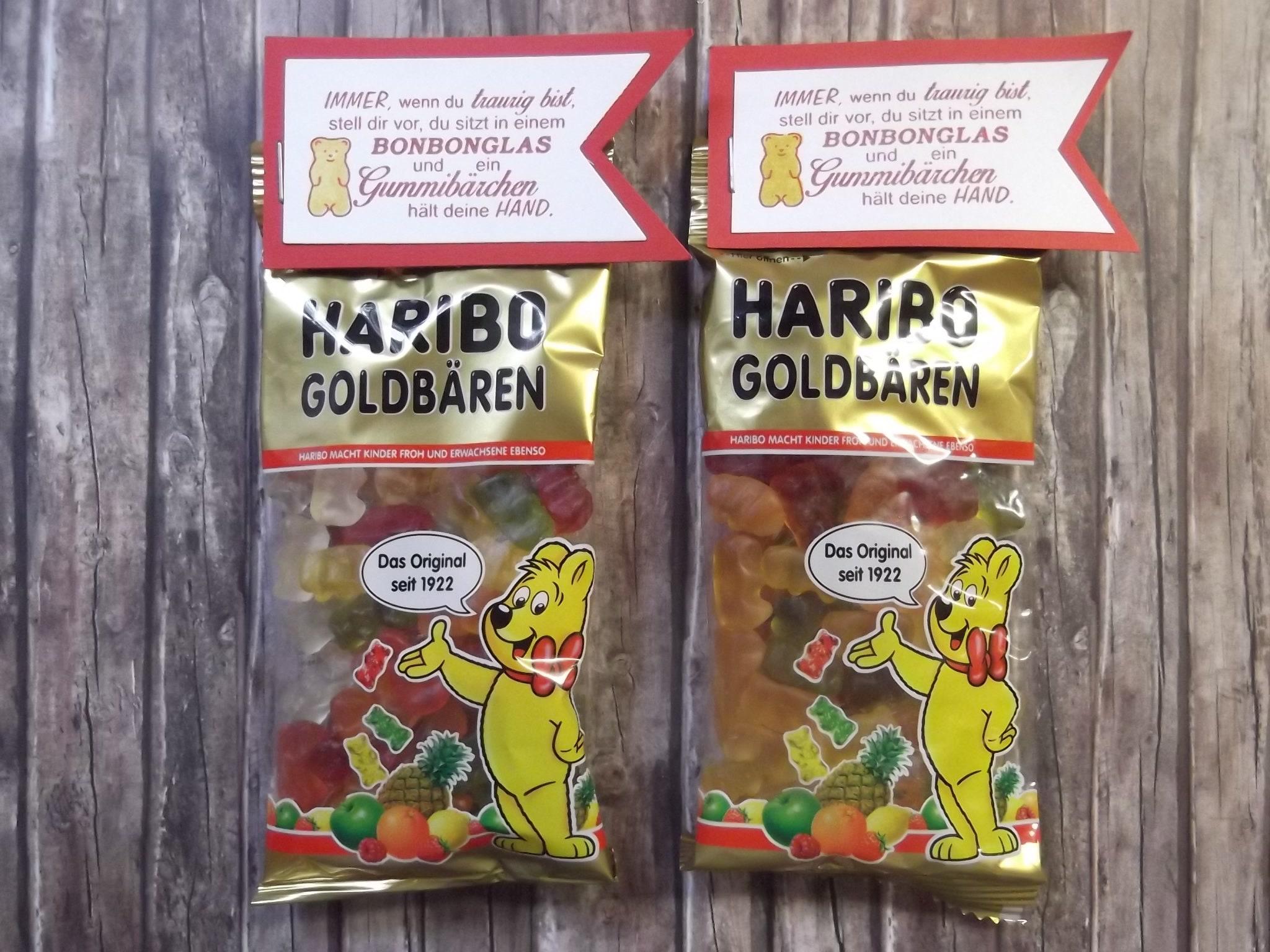 2x Haribo Gummibärchen mit süßem Spruch Geschenk   Etsy