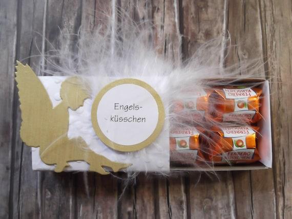 Engelsküsschen Ferrero Küsschen Geschenk Engel Hochzeit Taufe Geburtstag Kommunion Konfirmation Firmung Prüfung Weihnachten Silvester Abi