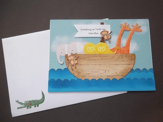 Taufeinladung Mit Persönlichem Namen Arche Noah
