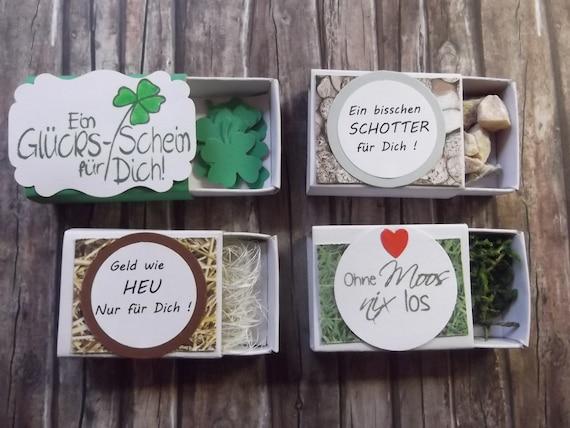 4 Verschiedene Lustige Geldgeschenk Boxen Geld Geburtstag Etsy