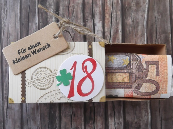 18 Geburtstag Geldgeschenk Box Fur Geld Volljahrig Etsy