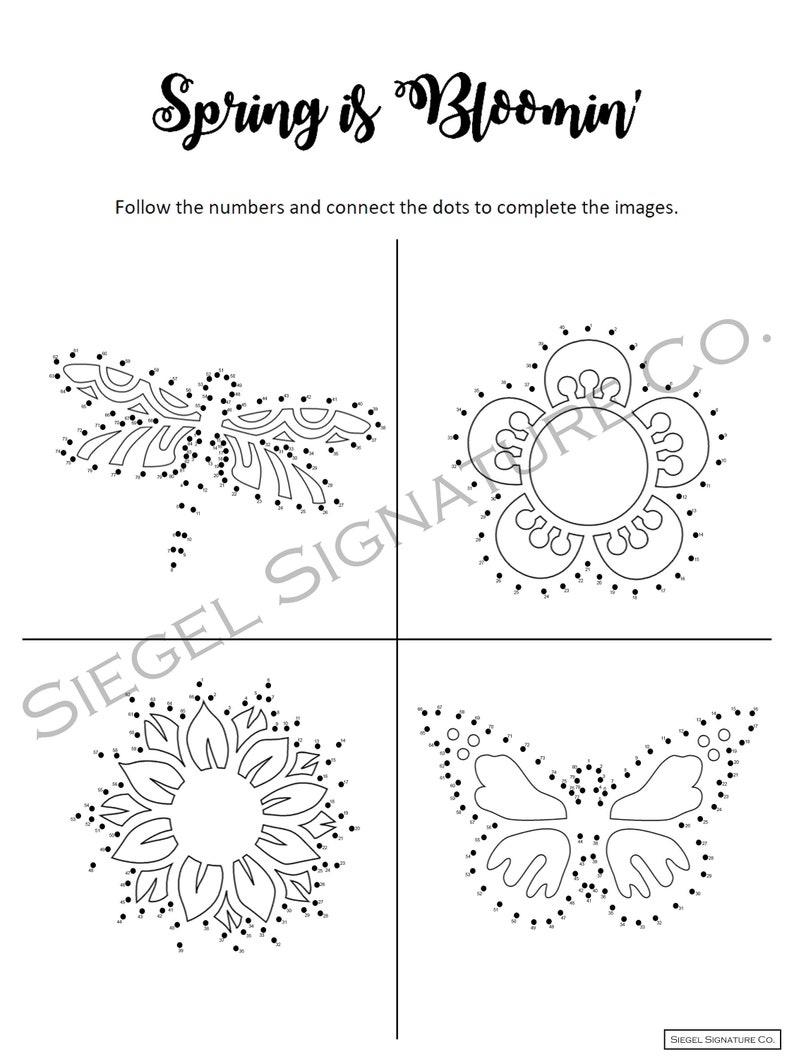 Spring is Blooming Kid's Activity Set  Printable  Word