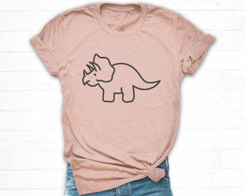 544d17e9 Dinosaur Shirt Adult Dinosaur Shirt Women Triceratops Shirt   Etsy