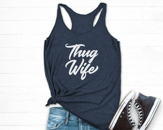 Mad Over Shirts Thug Wife Unisex Premium Tank Top