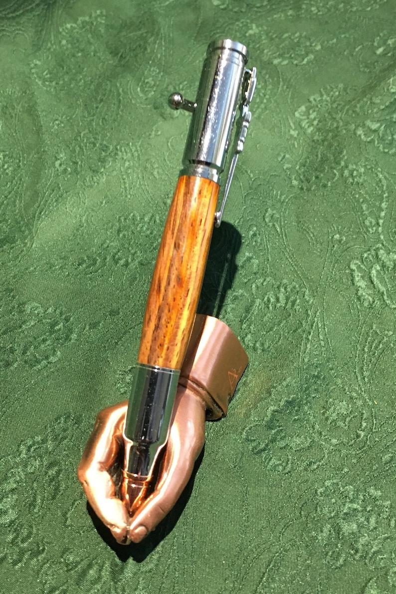 Chrome Cocobolo Wood 30cal Bolt Action Pen