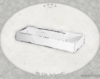 """Wooden bowl """"Shabby-Chic"""" / fruit bowl wood / utensil box / planting bowl Shabby / wooden tray Shabby-Chic / wooden gifts"""