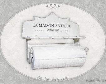 "Kitchen roller holder ""La Maison Antique"" /towel holder/ wall shelf shabbby-chic"