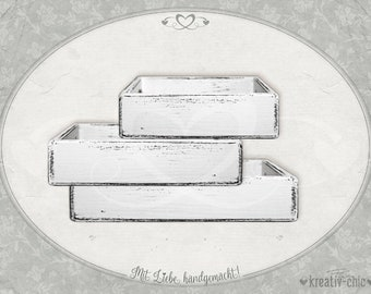 "Decorative tray ""Shabby-Chic"" (3 sizes) / wooden tray / serving tray shabby-chic"