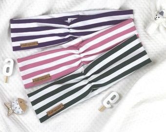 Hair bands striped, color and size selectable
