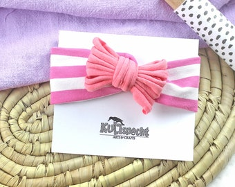 Baby headband striped, large color assortment