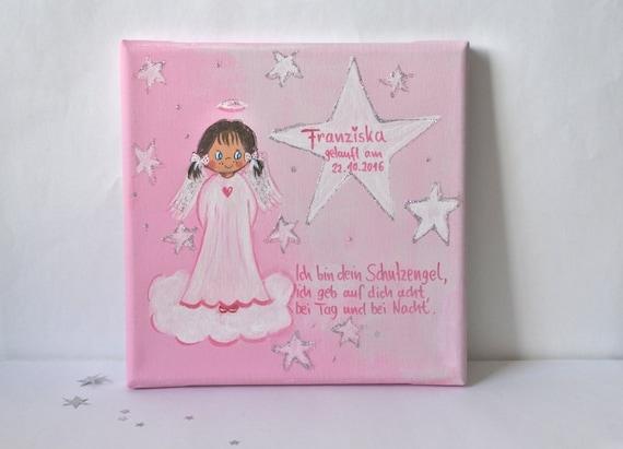 Taufgeschenk Mädchen Schutzengelbild Taufe Mädchen Gastgeschenk Patengeschenk