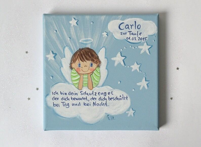 Taugeschenk für Jungen Schutzengelbild Geschenk zur Geburt | Etsy