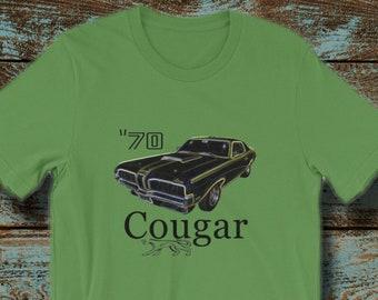 85c5d28d Mercury 1970 Cougar Eliminator Classic American Muscle Car Unisex Shirt