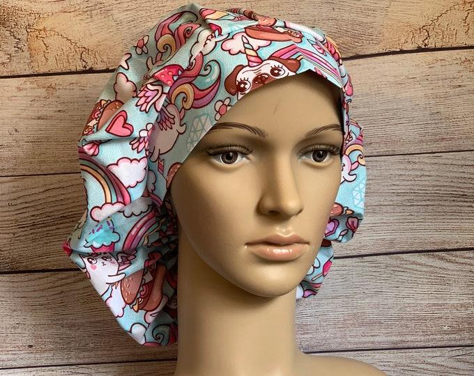 Whimsy~ Surgical Scrub Cap~ Scrub Hats~ Scrub Caps for Women~ Bouffant Cap
