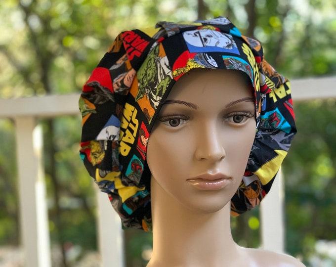 Classic Star Wars~ Surgical Scrub Cap~ Scrub Hats~ Scrub Caps for Women~ Bouffant