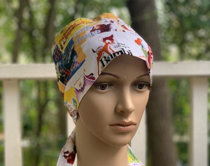 Classic Disney~ Surgical Scrub Cap~ Scrub Hats~ Scrub Caps for Women~ Pixie Tie-Back~ Star Wars
