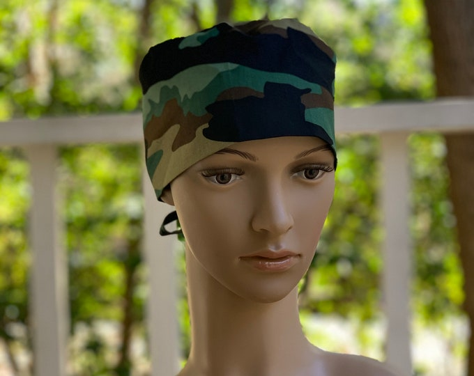 Camouflage~ Surgical Scrub Cap~ Men's Cap~ Scrub Hat