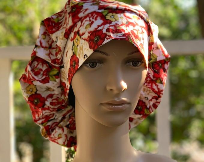 Amazing Grace~ Surgical Scrub Cap~ Scrub Hats~ Scrub Caps for Women~ Pixie Tie-Back