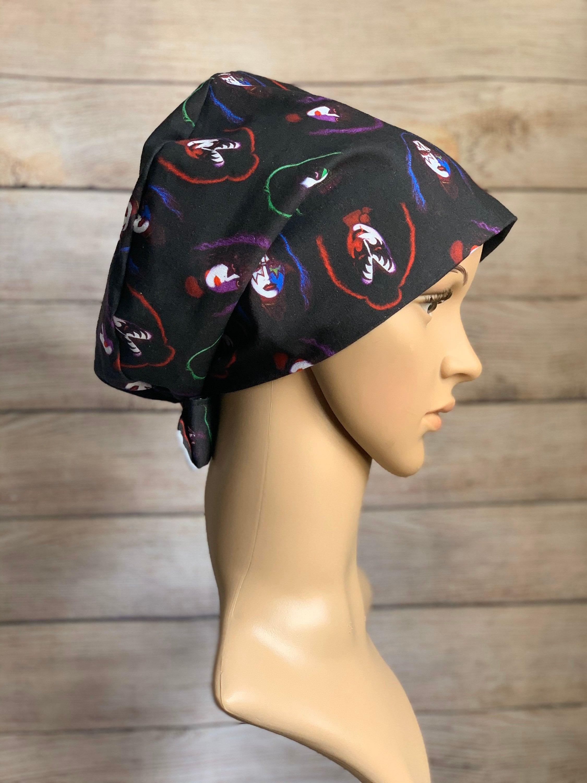 KISS~ Surgical Scrub Cap~ Scrub Hats~ Scrub Caps for Women~ Pixie Tie-Back