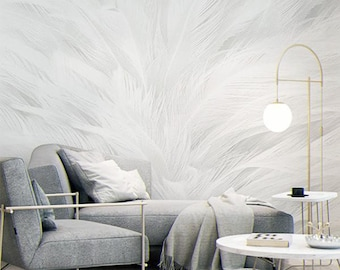 Feather Wallpaper Etsy