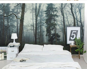 Delicieux Jungle Forest Wallpaper, Huge Big Trees Wall Mural, Living Room Or Dinning  Room Wallpaper