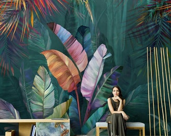 Tropical Wall Mural Etsy