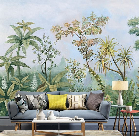 Tropical Rainforest Wallpaper, Southeast Asia Huge Trees And Plants Wall  Mural, Living Room Or Bedroom Wallpaper Wall Murals