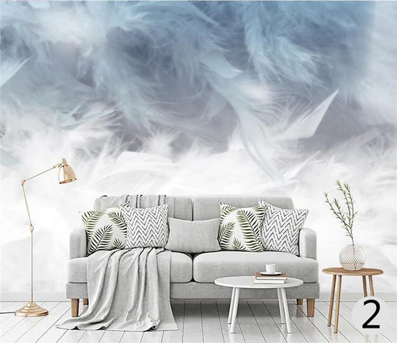 Northern Europen Simple Colorful Feathers Wallpaper Wall Mural Wall Art Living Room Or Dinning Room Wallpaper