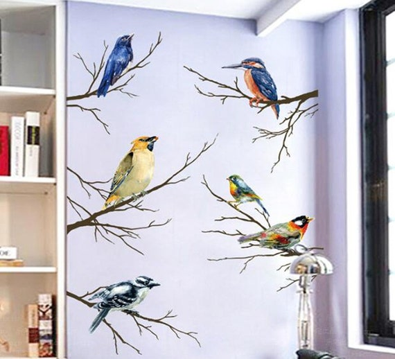 Vivid Flying Birds Wall Decal Bird Wall Decals Removable Peel And Stick Wallpaper Decals