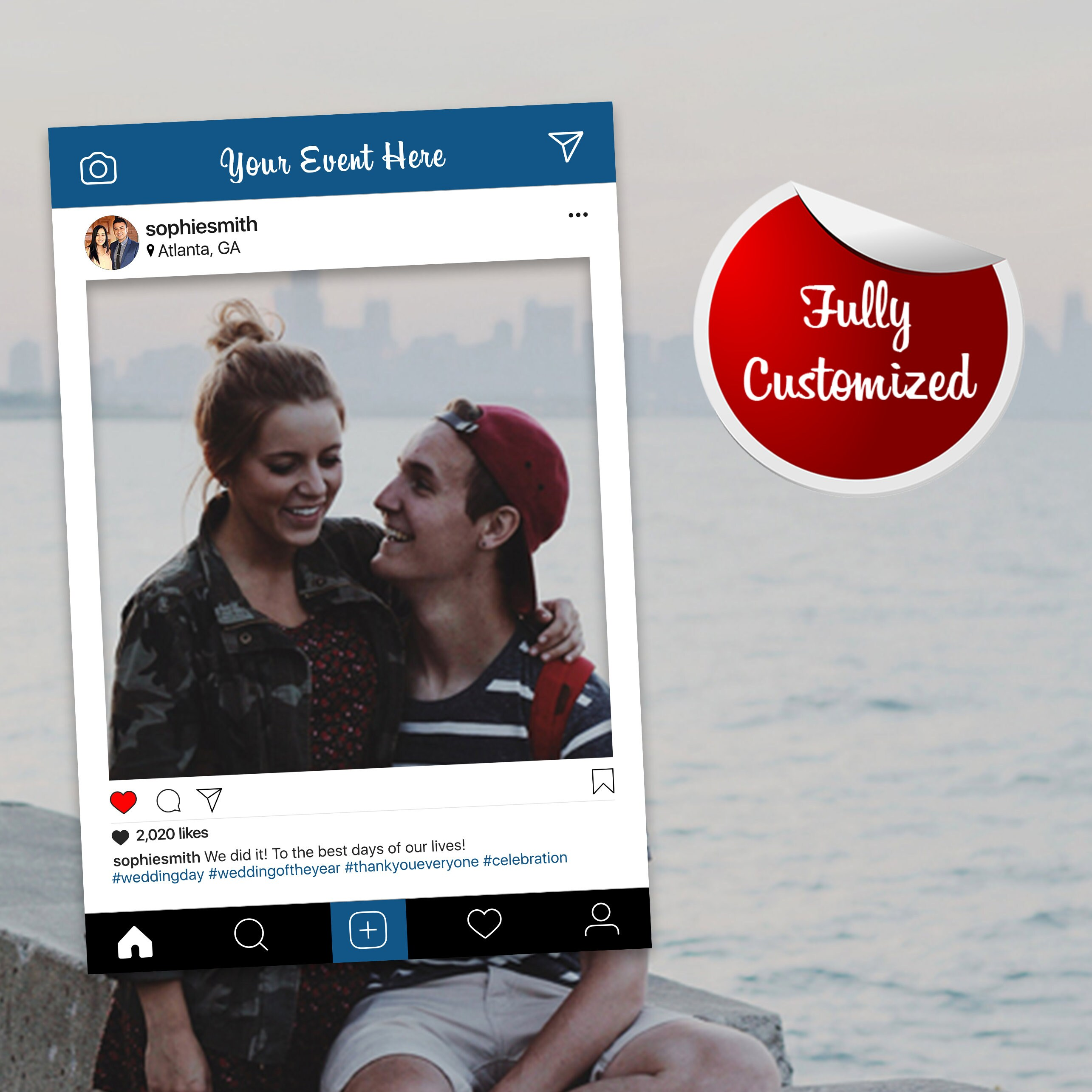 Instaframe Social Media Selfie Frame Photo Booth Prop Poster