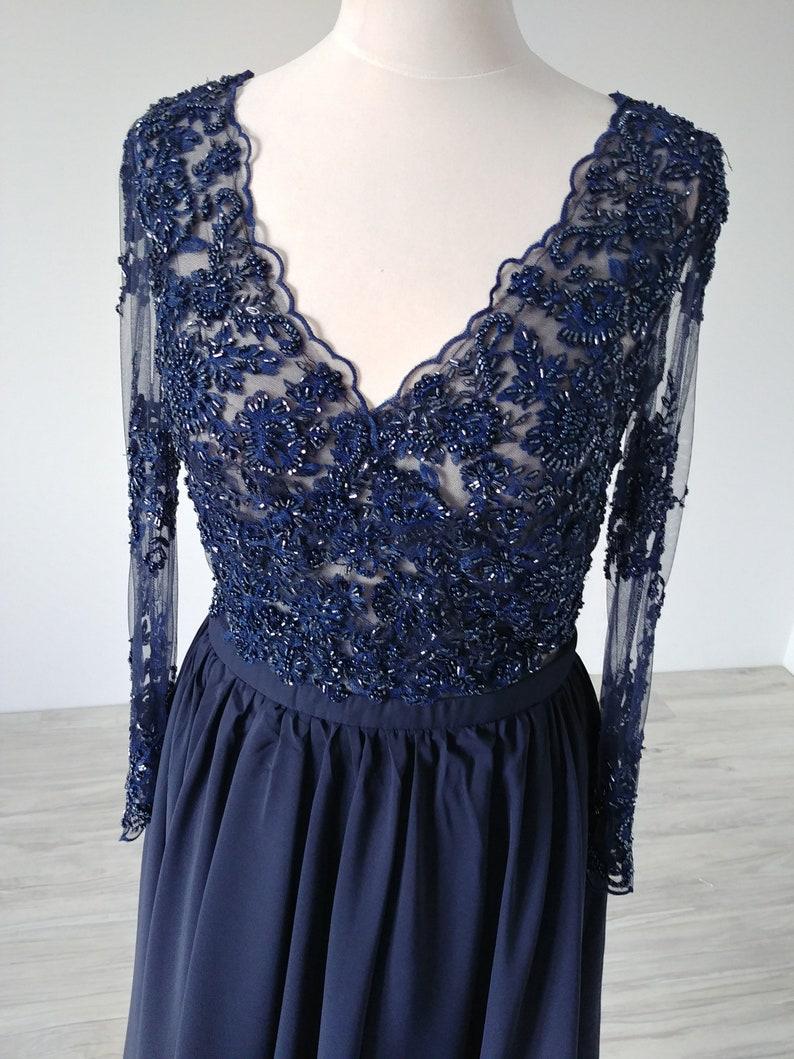 de571402b6 Sukienka wieczorowa koronka Haute couture koronka z