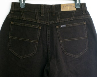 117a251a Lee Rider Brown High Waisted Big Booty Jeans Union Made USA Size 12 Brand  New NOS