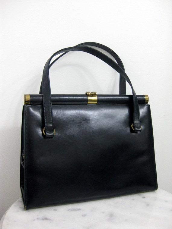 Coblentz Original Handbag Black Leather Purse Exce