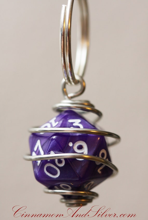 also have in othe colors Dice Keychain Key Fob purple