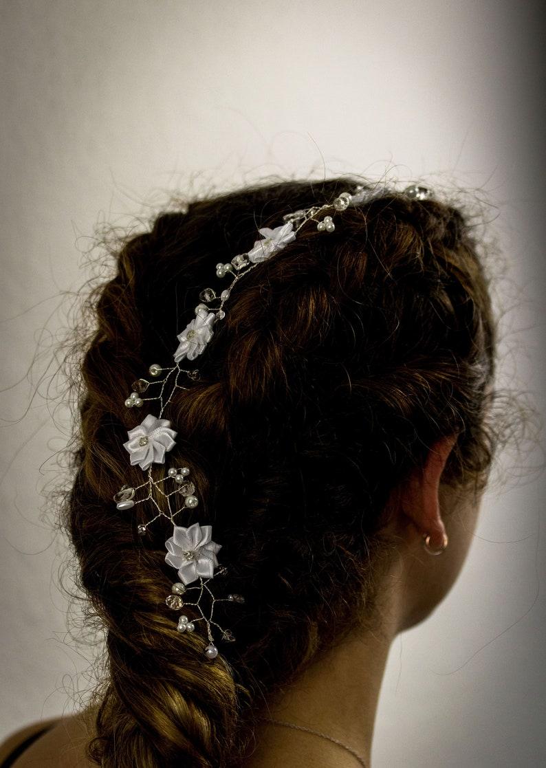 Brautschmuck Verantwortlich Haarschmuck Kopfschmuck Brautschmuck Haarreif Mit Perlen Kommunion Hochzeit Uhren & Schmuck