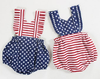 9827295a8 4th of july baby girl romper baby girl outfits first fourth of july  birthday outfit baby girls clothes Memorial day romper newborn romper