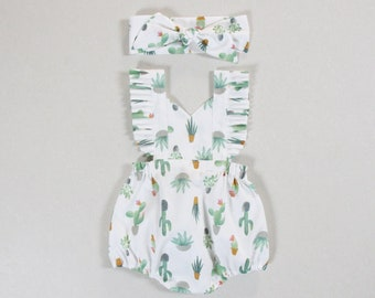 5a087547d1e5 cactus baby girl outfits baby romper baby girl romper cactus cake smash  clothes green romper birthday outfit girls romper baby bodysuit