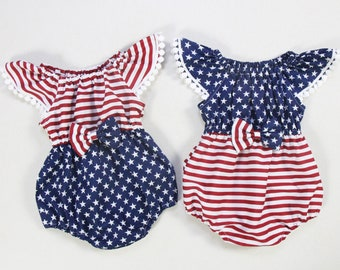 123b4dde8e377a 4th of july baby girl clothes baby girl outfits first fourth of july  birthday outfit baby girls romper Memorial day romper newborn romper