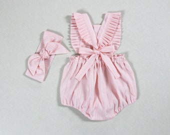dba321114a3 solid pink baby girl romper baby girl outfits baby girl clothes cake smash  girls romper 1st first birthday outfits baby romper boho romper
