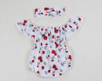 c5543d34106 strawberry baby girl romper baby girl clothes red baby girl outfits baby  romper toddler romper 1st birthday outfit boho romper baby bodysuit