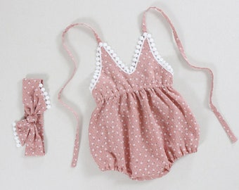 6e5d1db48891 pink baby girl clothes baby girl romper baby girl outfits 1st first  birthday outfit toddler romper girls romper baby girl gift boho romper
