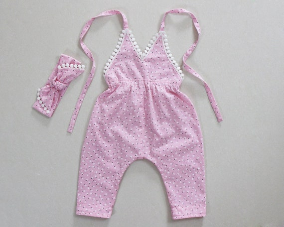 866bcfae168b Spring baby girl clothes pink girls baby harem pants jumpsuit