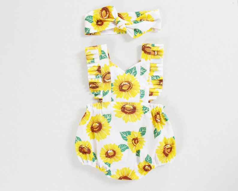 d1971e764c24 Sunflower baby girl clothes baby girl romper baby girl outfits