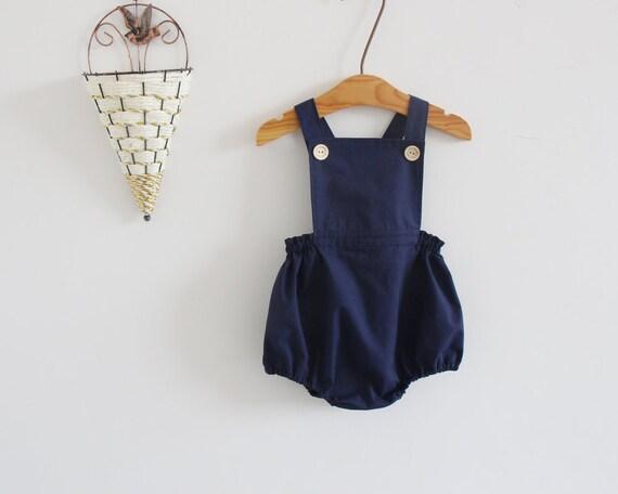 Baumwolle Demin Blue Baby Kleinkind Unisex Herz Spielanzug Sommer Jumpsuit