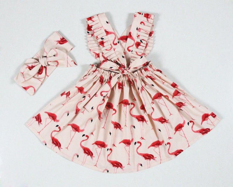 d829c04a7f4 Flamingo red dress little girls dresses baby girl dresses