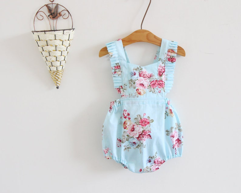 a5d14ca0450 Light blue baby girl clothes baby girl romper baby girl