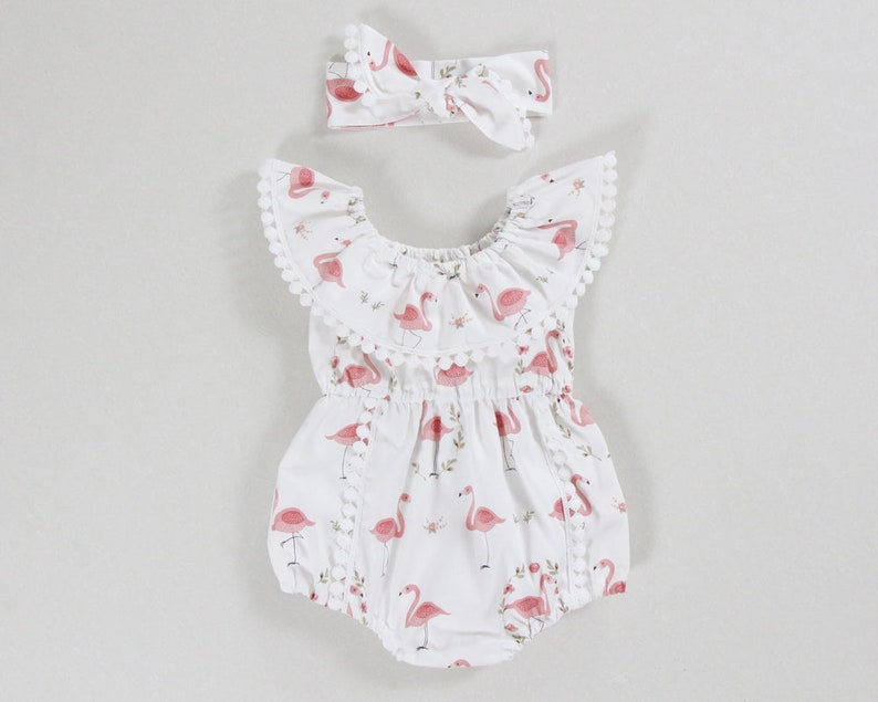 376b67bd49de Flamingo baby girl clothes baby girl romper baby girl outfits