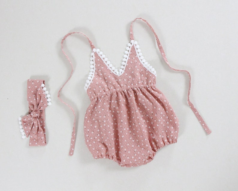 ca3a43b1e Pink baby girl clothes baby girl romper baby girl outfits 1st | Etsy