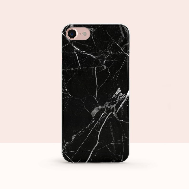 black marble iphone x case marble iphone 7 plus case black etsy