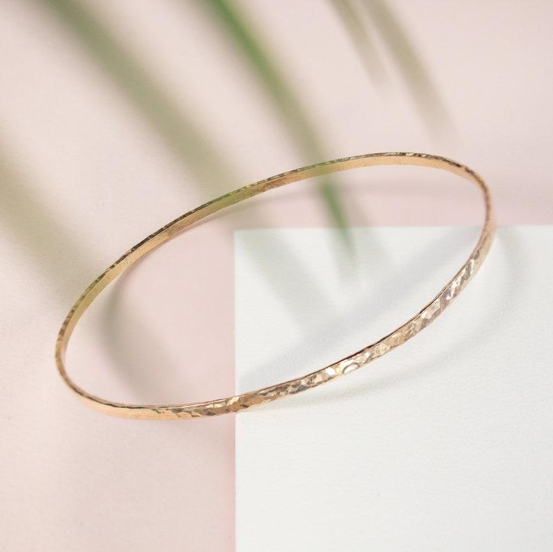 Hammered Bangles Gold Filled Bangles Plain Bangle Textured Bangle Hawaiian Bangle Gold Bangle Pearl Bracelet Dainty Bracelet Simple Bangle